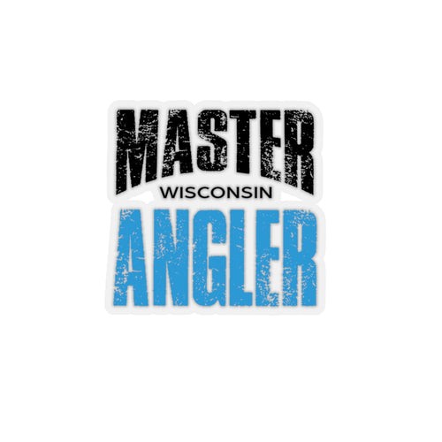 Wisconsin Master Angler Sticker - BLUE