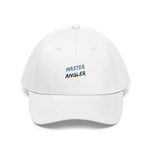 Master Angler Unisex Twill Hat - Blue Slash Logo
