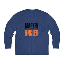 Load image into Gallery viewer, Alabama Master Angler Men's Long Sleeve Moisture Absorbing Tee - Orange Sqr