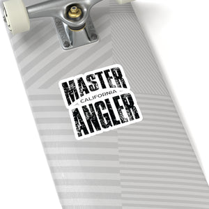 California Master Angler Sticker - BLACK