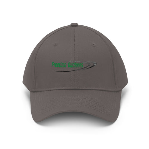 Freetime Outdoors Unisex Twill Hat - Green Logo