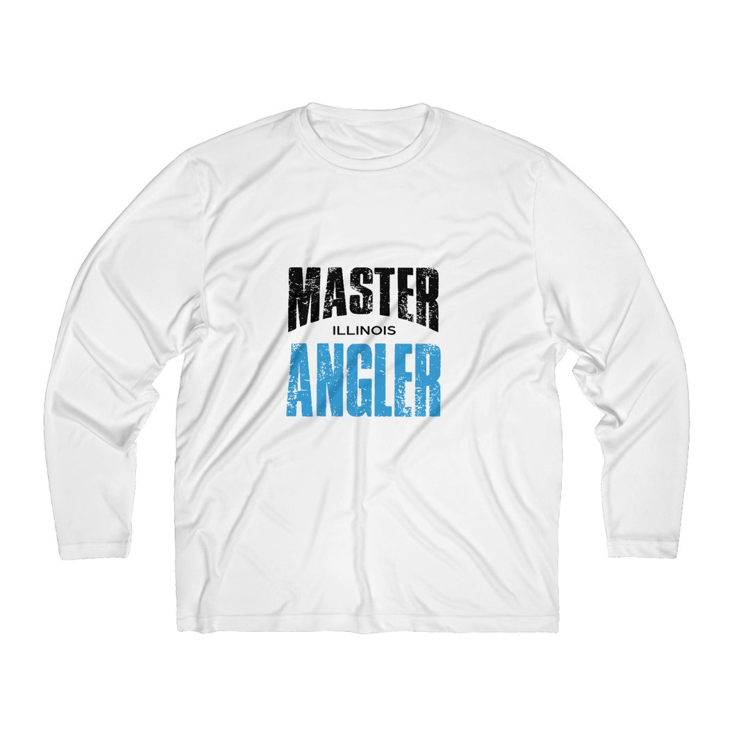 Illinois Master Angler Men's Long Sleeve Moisture Absorbing Tee - Blue Sqr