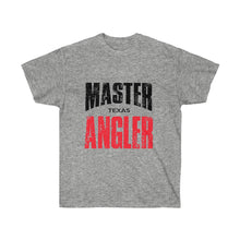 Load image into Gallery viewer, Texas Master Angler Unisex Ultra Cotton Tee Red Logo