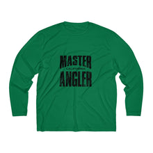 Load image into Gallery viewer, California Master Angler Men's Long Sleeve Moisture Absorbing Tee - Black Sqr