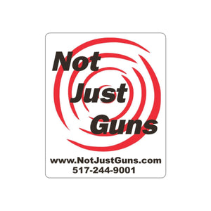 Not Just Guns Die Cut Stickers