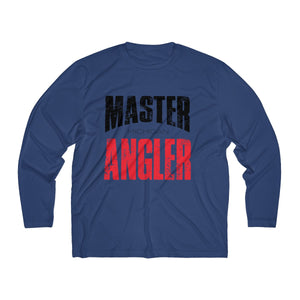Michigan Master Angler Men's Long Sleeve Moisture Absorbing Tee - Red