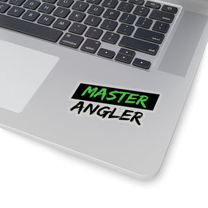 Black Stripe Master Angler Sticker - Square Green