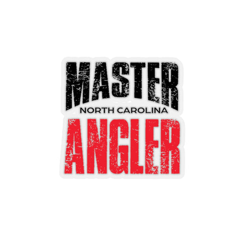 North Carolina Master Angler Sticker - RED