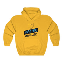 Load image into Gallery viewer, Ohio Master Angler Unisex Heavy Blend™ Hooded Sweatshirt - Slash Blue