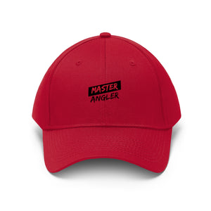 Master Angler Unisex Twill Hat - Red/Blk Slash Logo