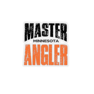 Minnesota Master Angler Sticker - ORANGE