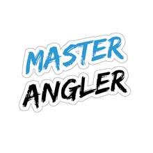 Load image into Gallery viewer, Master Angler Sticker - Square Blue
