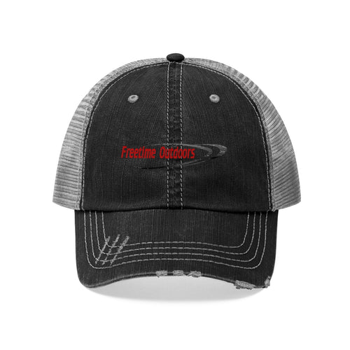 Freetime Outdoors Unisex Trucker Hat - Red & Black Logo