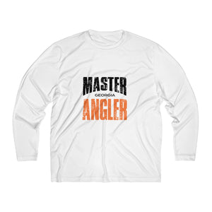 Georgia Master Angler Men's Long Sleeve Moisture Absorbing Tee - Orange Sqr