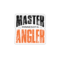 Load image into Gallery viewer, Minnesota Master Angler Sticker - ORANGE