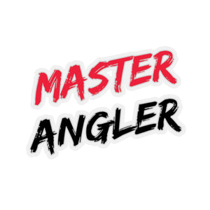 Master Angler Sticker - Red & Black