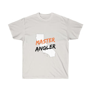 California Master Angler Unisex Ultra Cotton Tee Orange Logo