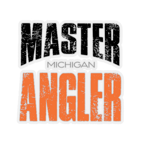 Michigan Master Angler Square Sticker - Orange