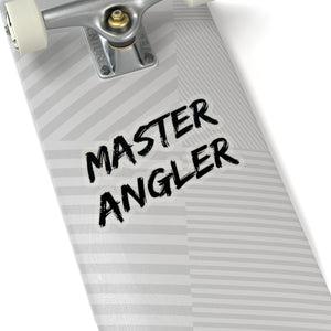 Master Angler Sticker - Square Black