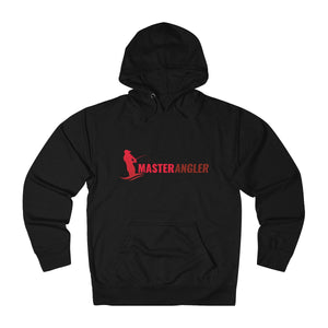 Master Angler Unisex Terry Hoodie Red Long Logo