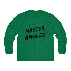 Master Angler Men's Long Sleeve Moisture Absorbing Tee - Black Slash