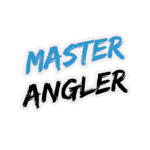 Master Angler Blue & Black Stickers