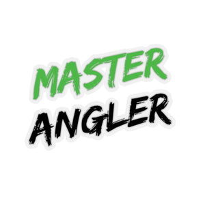 Master Angler Sticker - Square Green
