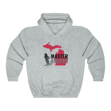 Load image into Gallery viewer, Michigan Master Angler Unisex Heavy Blend™ Hooded Sweatshirt