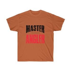 Michigan Master Angler Unisex Ultra Cotton Tee Red Logo