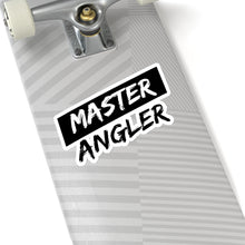 Load image into Gallery viewer, Black Stripe Master Angler Sticker - Square Black
