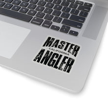 Load image into Gallery viewer, California Master Angler Sticker - BLACK