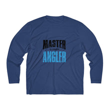 Load image into Gallery viewer, Illinois Master Angler Men's Long Sleeve Moisture Absorbing Tee - Blue Sqr