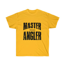 Load image into Gallery viewer, Texas Master Angler Unisex Ultra Cotton Tee Black Logo