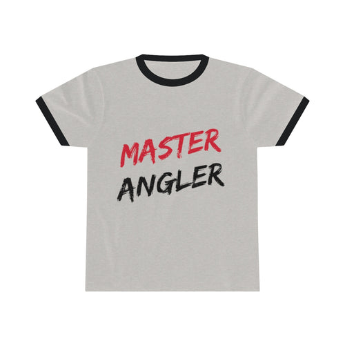 Master Angler Unisex Ringer Tee - Red Clear Slash
