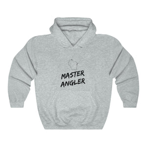 Wisconsin Master Angler Unisex Heavy Blend™ Hooded Sweatshirt -  State Black