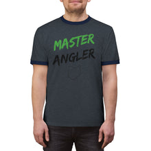 Load image into Gallery viewer, Ohio Master Angler Unisex Ringer Tee - Green Logo
