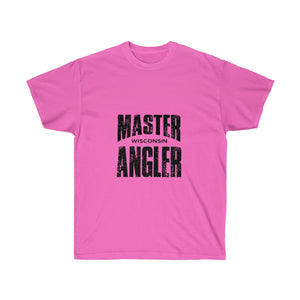 Wisconsin Master Angler Unisex Ultra Cotton Tee Blk Logo