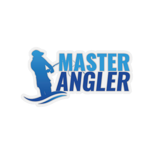 Master Angler Sticker - Blue