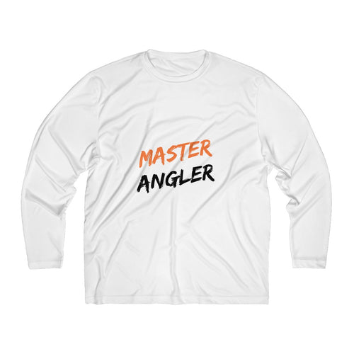 Master Angler Men's Long Sleeve Moisture Absorbing Tee - Orange Slash