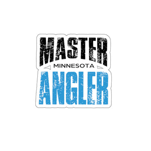 Minnesota Master Angler Sticker - BLUE