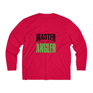 South Carolina Master Angler Men's Long Sleeve Moisture Absorbing Tee - Grn Sqr