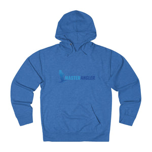 Master Angler Unisex Terry Hoodie Blue Long Logo