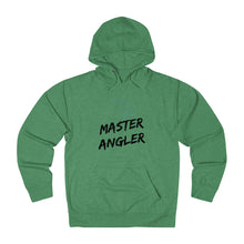 Load image into Gallery viewer, Michigan Master Angler Unisex Terry Hoodie Black Logo