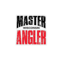 Load image into Gallery viewer, Wisconsin Master Angler Sticker - RED