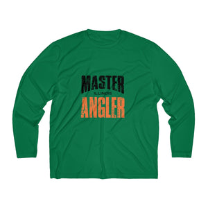 Illinois Master Angler Men's Long Sleeve Moisture Absorbing Tee - Orange Sqr