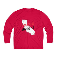 Load image into Gallery viewer, California Master Angler Men's Long Sleeve Moisture Absorbing Tee - Red Logo