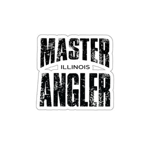 Illinois Master Angler Sticker - BLACK