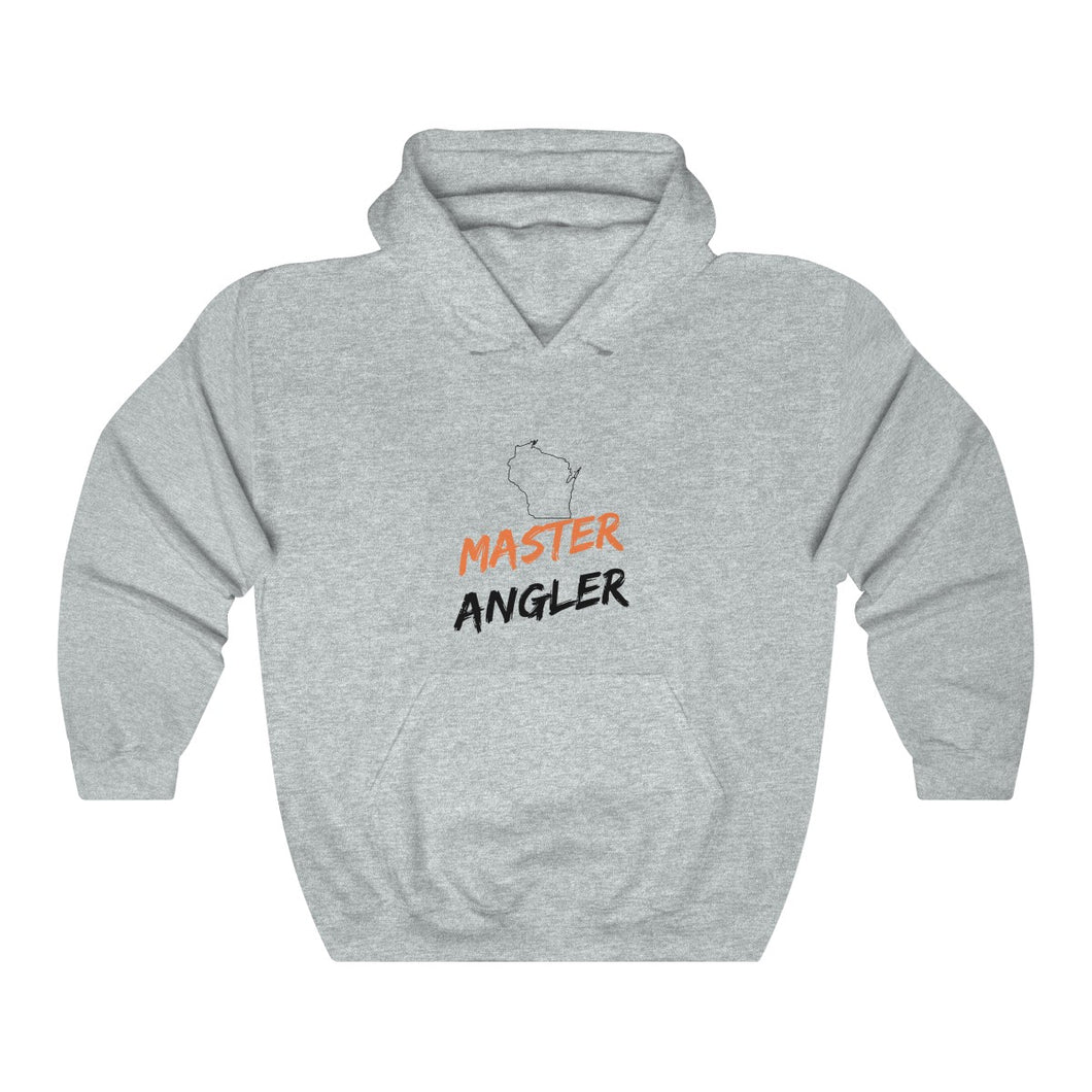 Wisconsin Master Angler Unisex Heavy Blend™ Hooded Sweatshirt -  State Orange