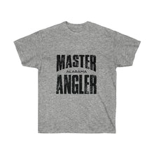 Load image into Gallery viewer, Alabama Master Angler Unisex Ultra Cotton Tee Black Logo