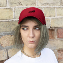 Load image into Gallery viewer, Master Angler Unisex Twill Hat - Red/Blk Slash Logo